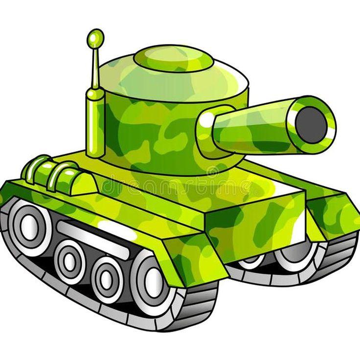 Cartoon army tank Cartoon military tank Vector ...