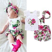 Комплекты летней одежды для малышей для новорожденных комплект одежды для маленьких девочек для маленьких детей наряды хлопковая рубашка ...(China (Mainland))