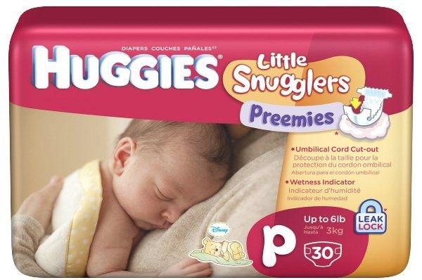 Huggies Little Snugglers Preemies Diapers. Case of 180 Diapers: $38.99
