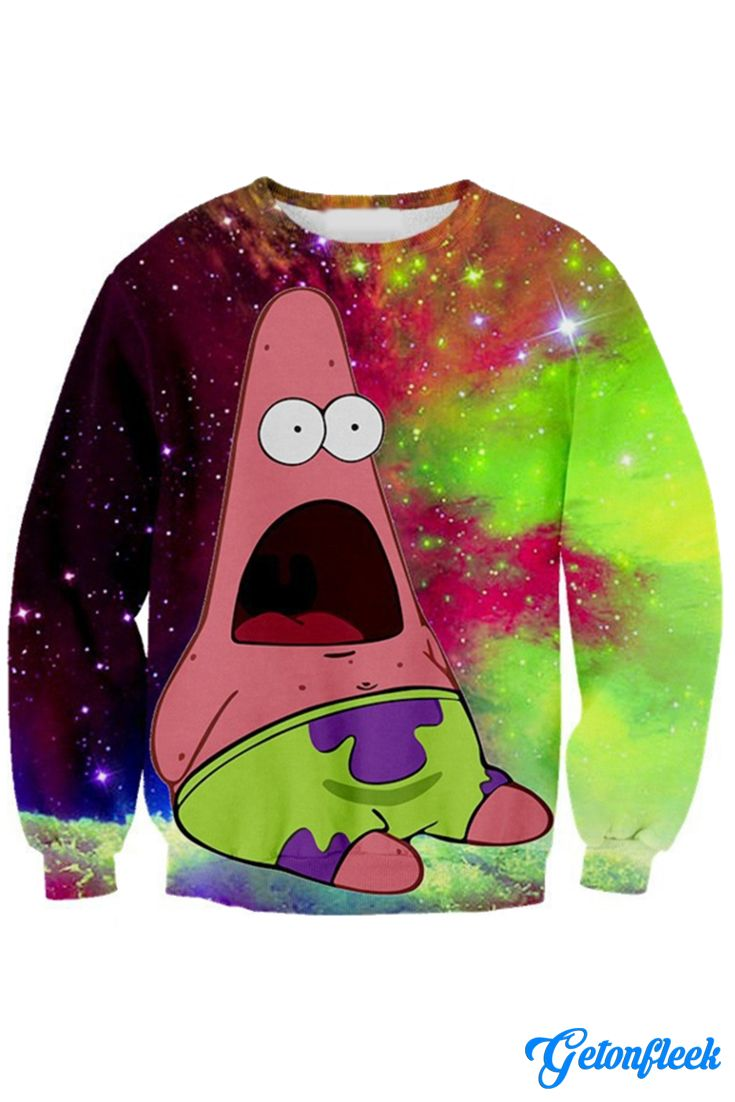 Patrick Galaxy Crewneck - Shop our entire collection of all-over-print apparel! www.getonfleek.com