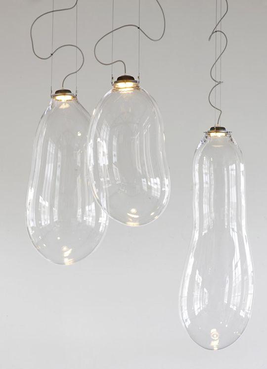 The big bubble by Dutch Designer Alex de Witte. Amazing transparant light
