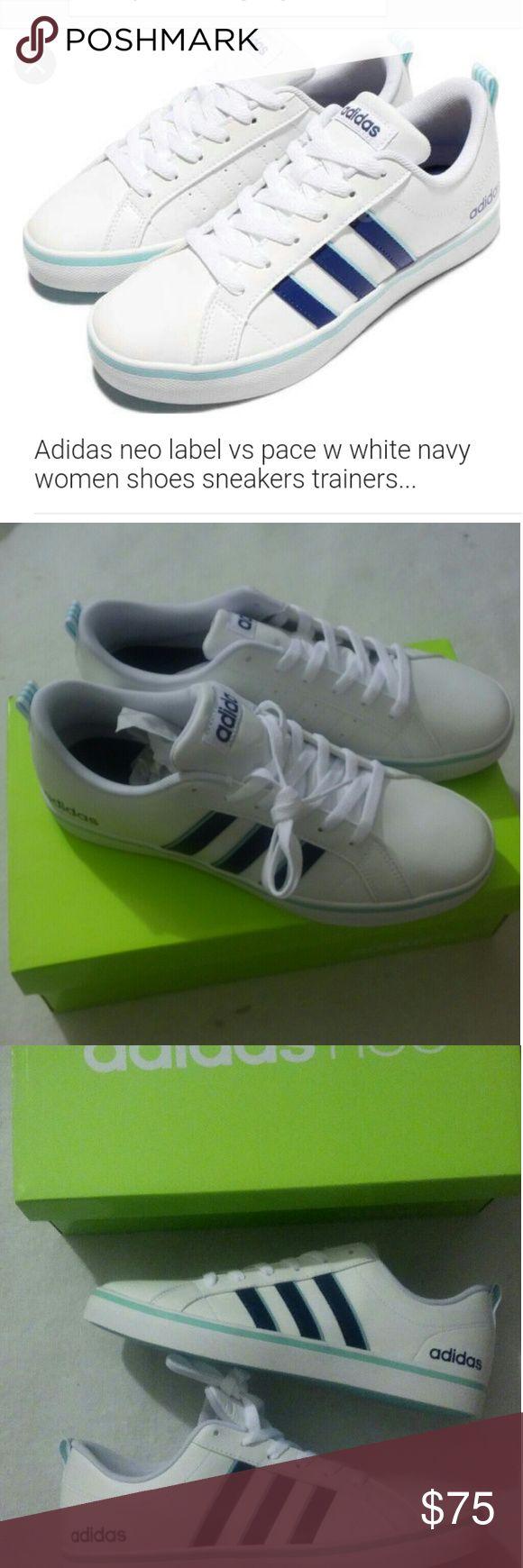 Adidas neo label vs pace w white navy women shoes Adidas neo label vs pace w white navy women shoes sneakers trainers... Sz 9 addidas  Shoes Sneakers