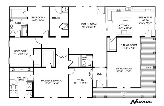 interactive floorplan the norris triple - nsc45723a | 27nsc45723ah