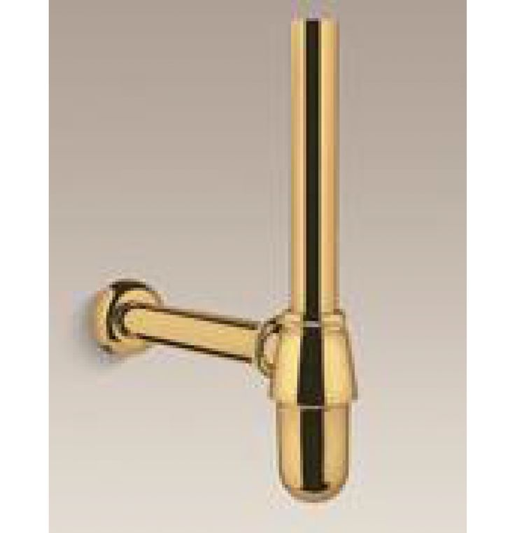 Kohler Lavatory Bottle Trap With 300 Mm Horizontal Pipe In Polished Gold