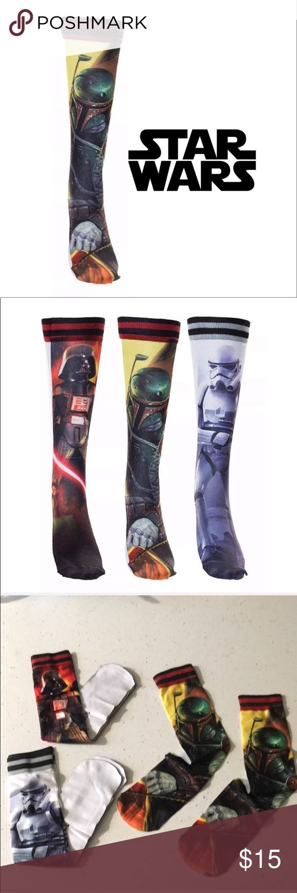Star Wars Boba Fett Pair of Socks This officially licensed Star Wars of sublimated socks features Boba Fett.  Also available in Darth Vader, Storm Tro…