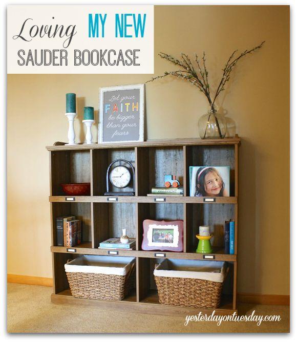 Loving My New Bookcase #sauder #bookcase #spon