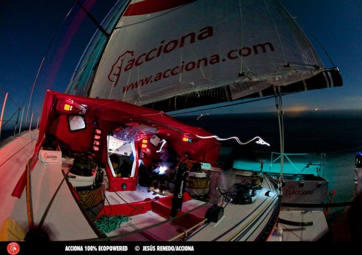 IMOCA Open 60 Acciona 100% Ecopowered, the first eco-efficient boat in the Vendée Globe.
