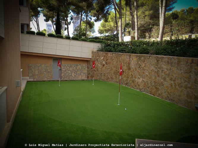 Instalación Putting green césped artificial Chiclana de la frontera. Cádiz.
