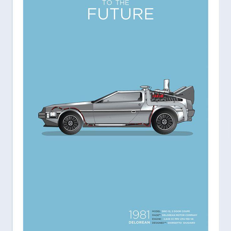 Exclusive Back To The Future DeLorean Poster