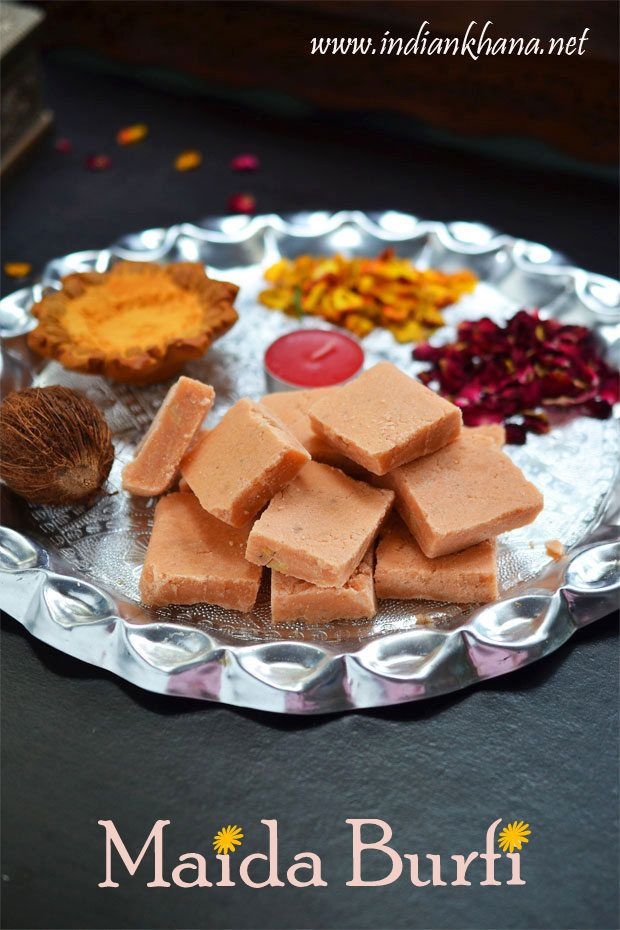 Maida Burfi or Maida Cake is another easy burfi recipe with minimal ingredients, perfect sweet for Diwali