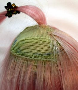 wefting tutorial > this version uses wefted hair and 2 wig caps