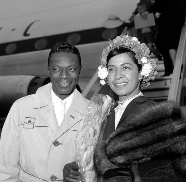 Natalie Cole Explains Her Mother's Complex Against Dark Skin.                                              Nat King Cole and wife Maria