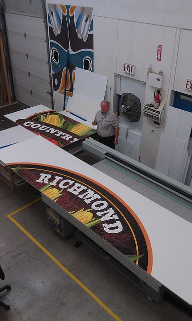 MDO Signage printed direct to substrate with an Oce machine #fastsigns