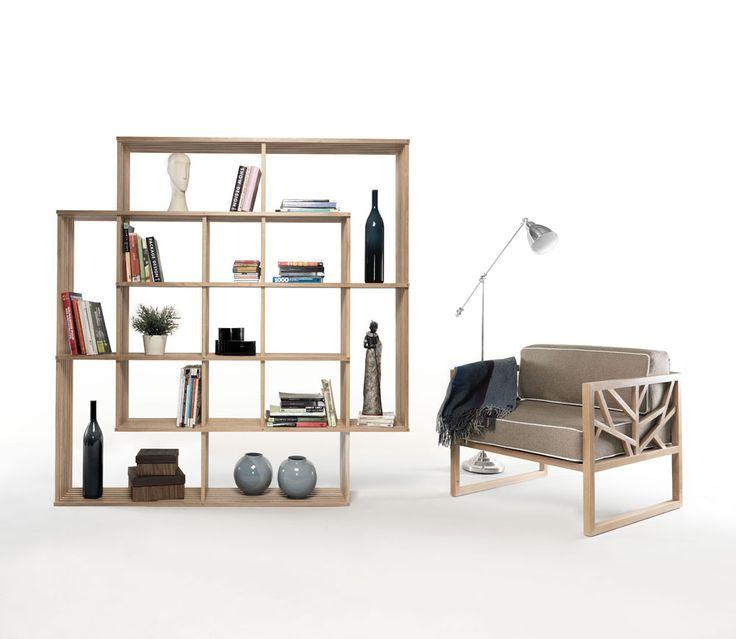Modern And Versatile X2 Bookshelf From Solid Oak | DigsDigs