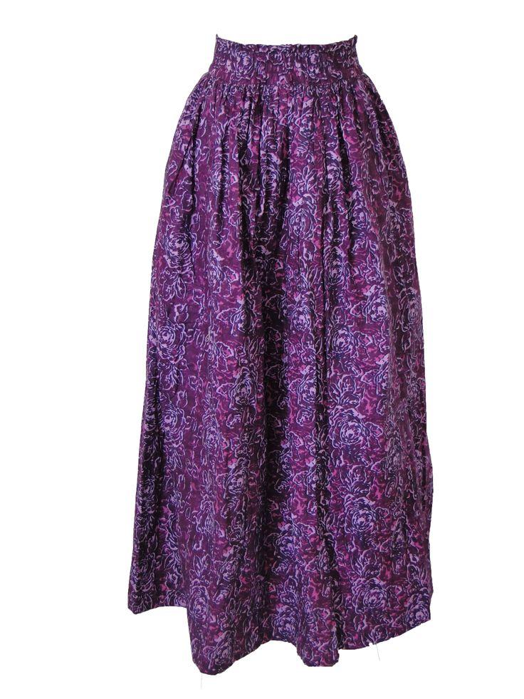 Maxi jupe total pagne violette0000