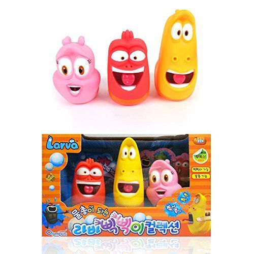 Larva [Larva Pik Pik Water Gun 3Pcs] - Korean Tv Slapstick Comedy Animation Toy, 2015 Amazon Top Rated Water Guns, Blasters & Soakers #Toy