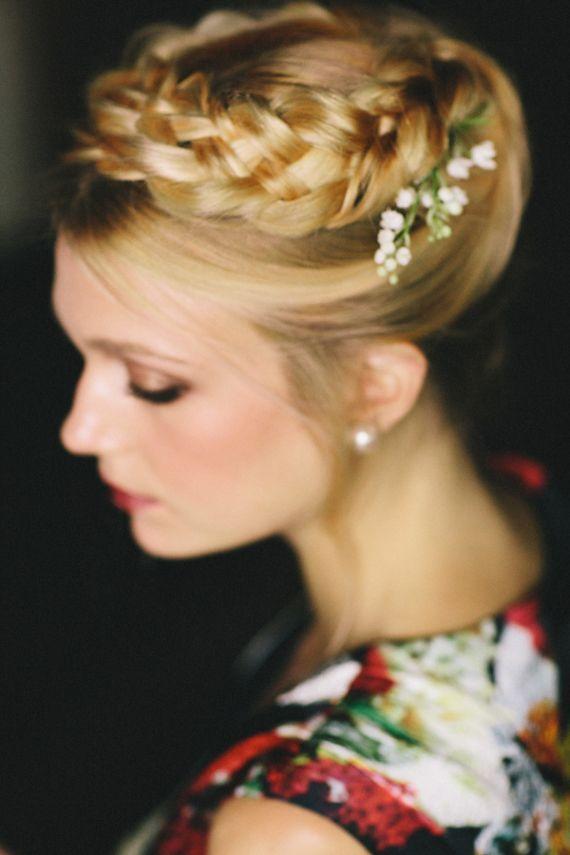 Chic Braided Wedding Hairstyles - Andria Lo via 100 Layer Cake