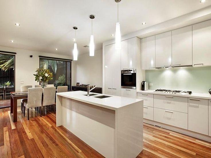 Floorboards in a kitchen design from an Australian home - Kitchen Photo 8229277
