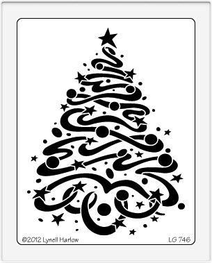 Dreamweaver Large Stencil Star Dream Xmas Tree - £7.49 - A Great Range of Stencils from craftydevilspapercraft.co.uk