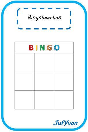 JufYvon: groep 3-4 bingokaart