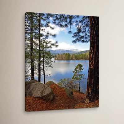 """Three Posts Morning Reflection Photographic Print on Wrapped Canvas Size: 48"""" H x 36"""" W x 2"""" D"""
