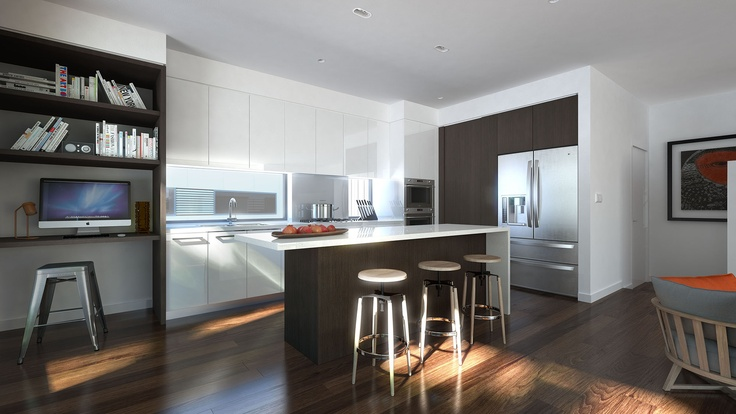 Spacious kitchens, all with island benches, high quality fixtures and fittings and stainless steel European appliances.