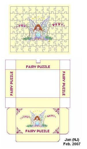 miniature fairy puzzle printable