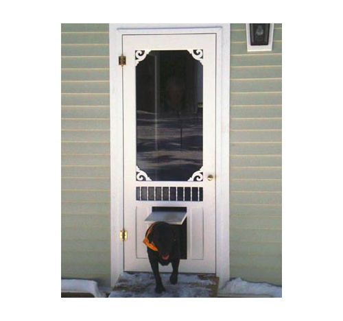 9 Best Screen Door With Dog Door Images On Pinterest Screen Doors