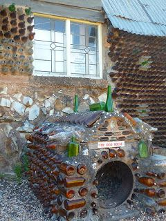 Recycled Cool Dog House Glass Bottles