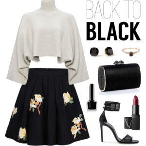 """top back to black set"" by flam16 on Polyvore"