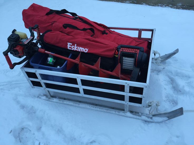 25 best ideas about ice fishing sled on pinterest ice for Ice fishing sled ideas