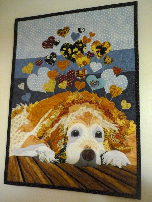 golden retreiver quilt. It really does sum up a dog's love.