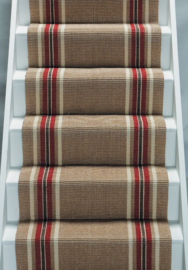 Simple striped stair carpet