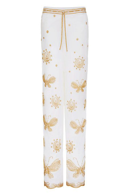 DVF Davin Embroidered Tulle Goddess Pant | Landing Pages by DVF