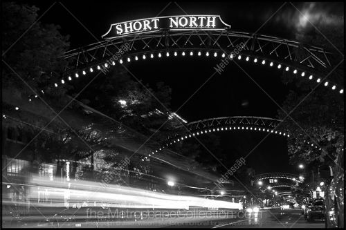 Black & White Photography Print of The Short North Arches over North High Street