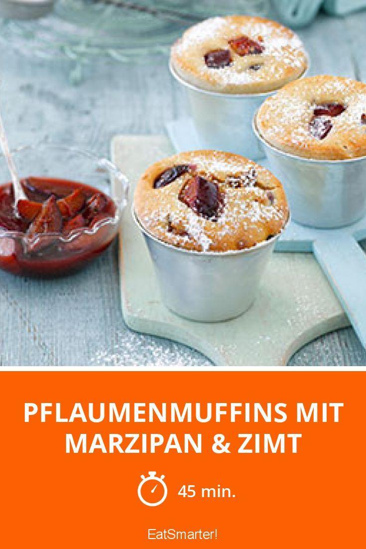 Pflaumenmuffins mit Marzipan & Zimt - smarter - Zeit: 45 Min.   eatsmarter.de
