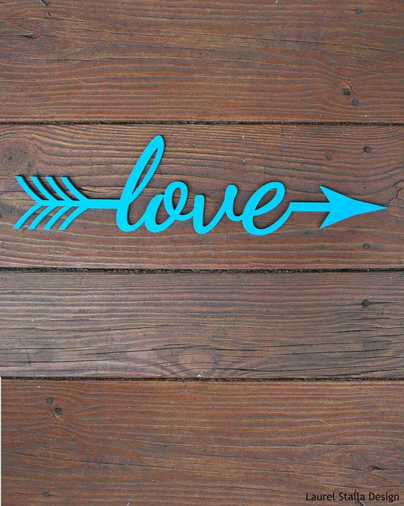 Love Arrow Laser Cut Cutout wooden wall art makes a very nice art piece for your living area or bedroom. Painted thin wood. Makes a very nice