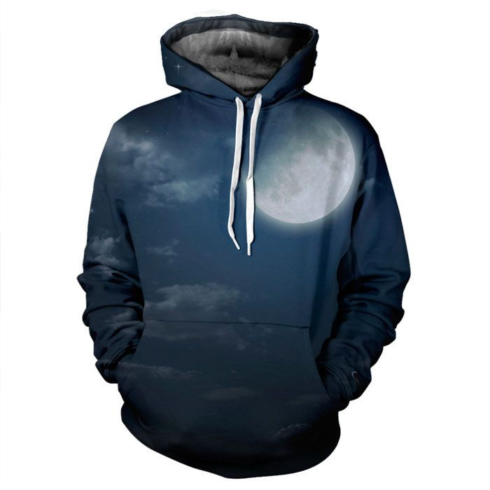 Full Moon Night Hoodie by Yo Vogue Clothing - First All Over Print Brand  from Australia - Visit Us today