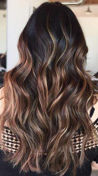 dark chocolate brunette balayage beauty fall/winter colour this year???? I think sooooooo 😊