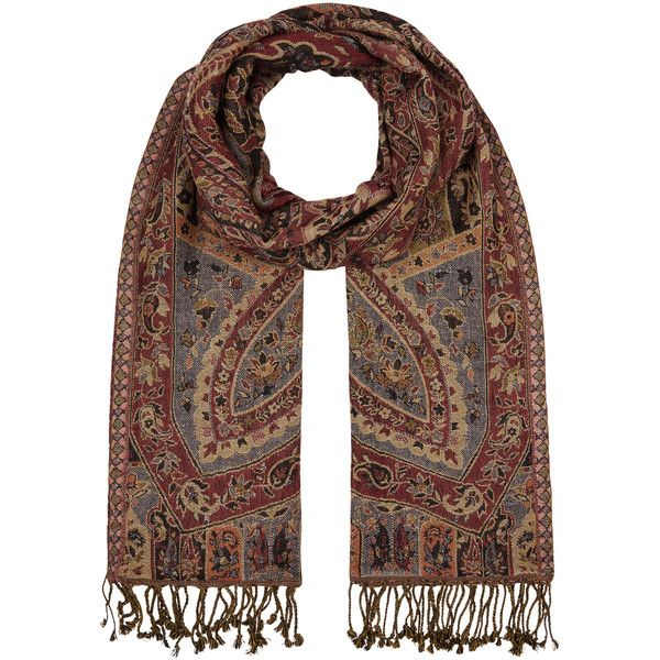 Accessorize Harper Paisley Scarf ($30) ❤ liked on Polyvore featuring accessories, scarves, paisley shawl, accessorize scarves, paisley scarves, boho scarves and bohemian scarves