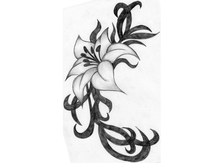 flowers drawings in pencil - The Best Flowers Ideas