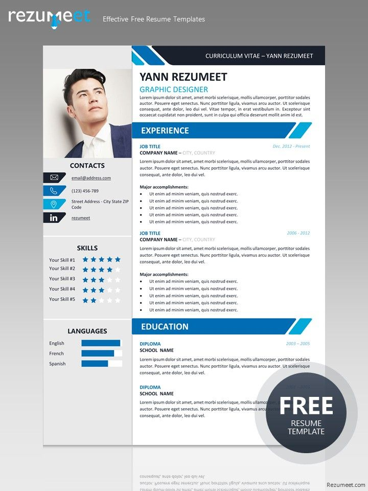 Yanaka Free Professional Resume Template For Ms Word Docx Free Professional Resume Template Resume Design Free Resume Template Professional