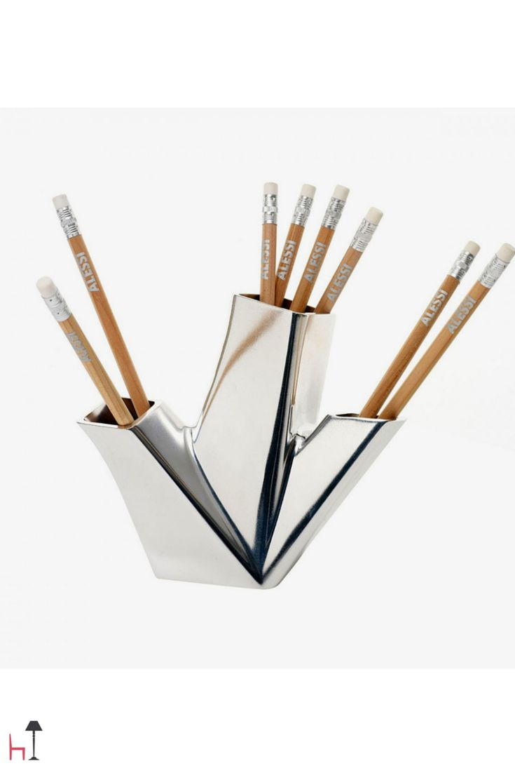 Trina is a pen pot disegned by Hani Rashid for Alessi.