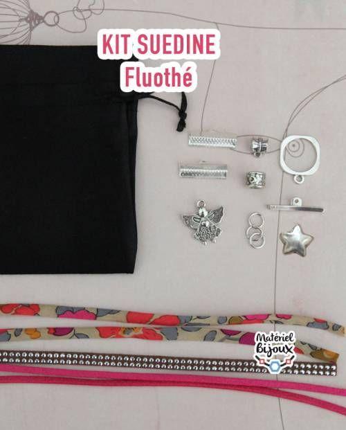 un kit comprenant une vidéo tuto et tout le matériel pour créer un bracelet fantaisie.