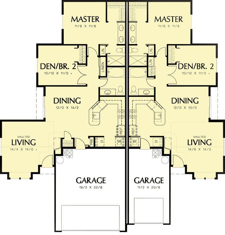 Best 25 duplex design ideas on pinterest mezzanine for Multi family condo plans