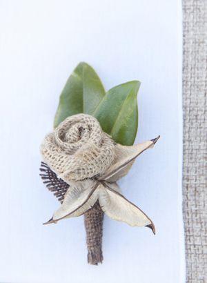 cute non flower idea for guys @Carla Moody: Rosette Boutonniere, Burlap Flowers, Teas Photography, Wedding Ideas, Rose Boutonniere, Sweet Teas, Burlap Boutonnieres, Burlap Rosette, Burlap Wedding