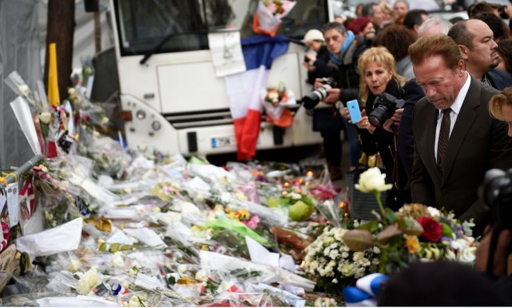 Attentats : Schwarzenegger rend hommage aux victimes du Bataclan (leparisien.fr) - via 1001portails