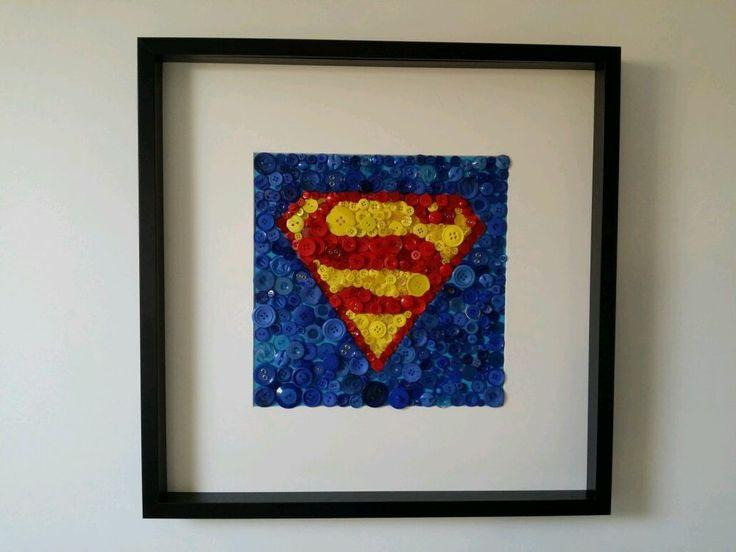 Superman Button Art