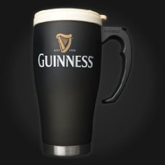 Large Guinness Travel Mug Cream Cap