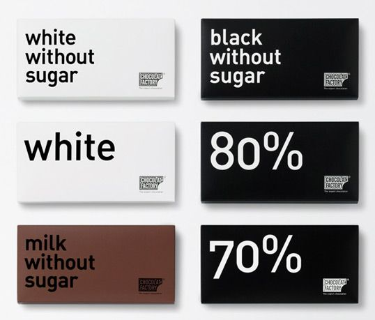 Nice, simple, and clean packaging for The Chocolate Factory by Ruiz and Company.